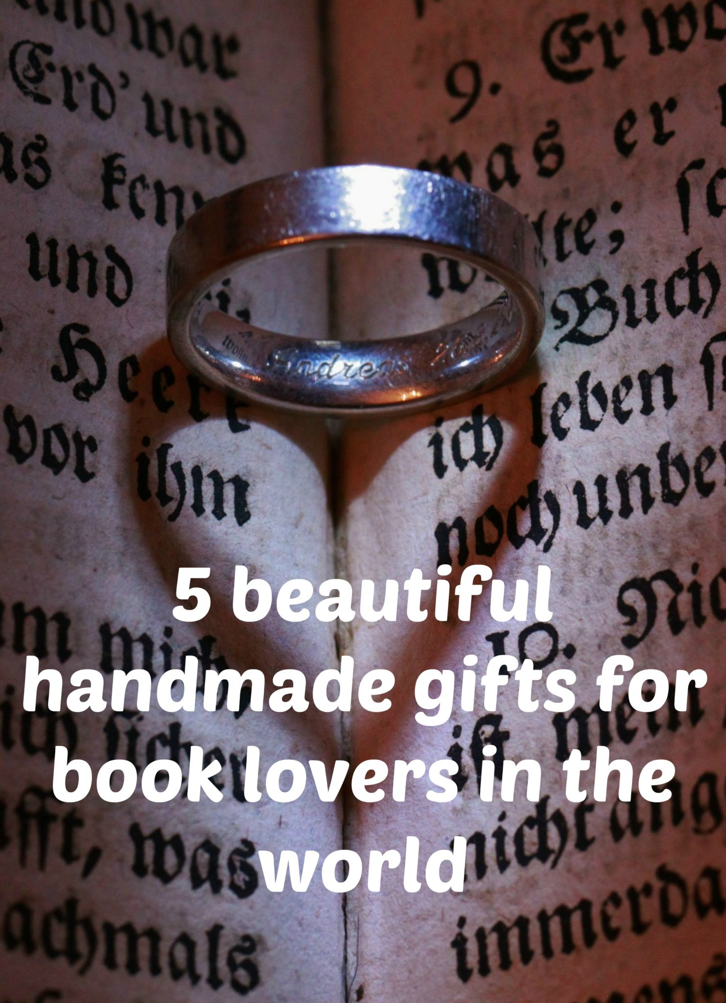 handmade gifts for book lovers