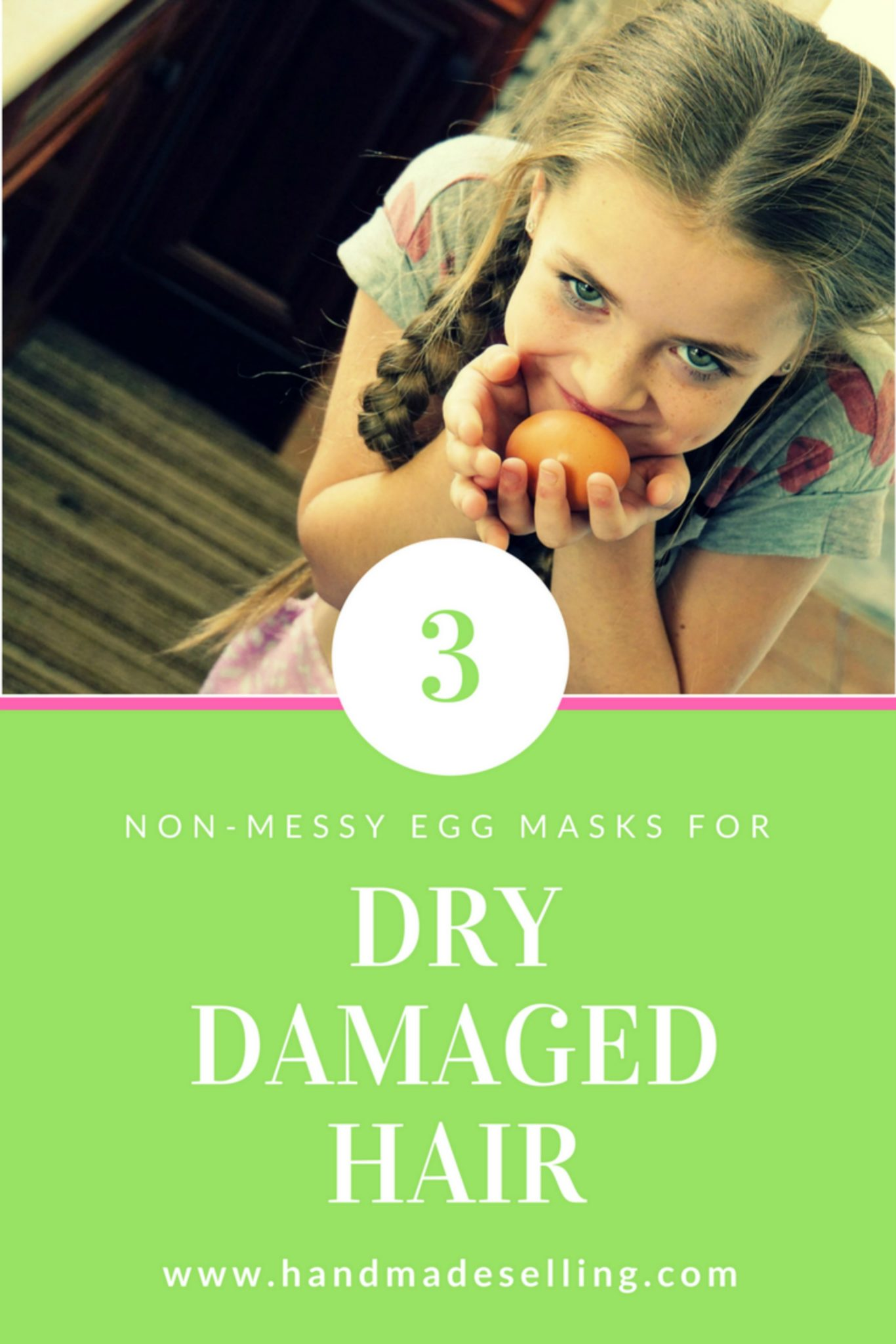 Egg hair masks for dry damaged hair made the simplest way