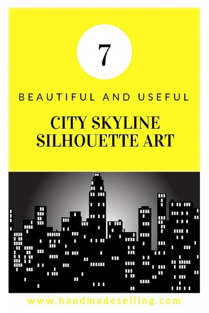 city skyline silhouette art