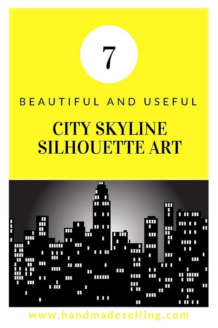 city skyline silhouette art