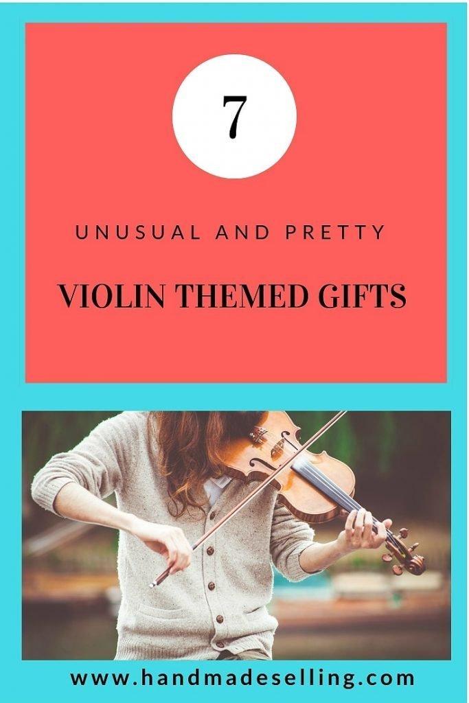 violin themed gifts header